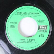 Soul 45 Michael Johnson - Bluer Then Blue / Two In Love On Emi American Records,