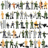 50pcs 1:87 Well Painted Figures Workers HO Scale People Railway Worker
