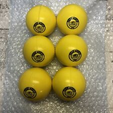 Six PENN MONTO Field Hockey Balls YELLOW (unused)