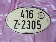 VINTAGE GERMAN 1980s METAL AUTOMOBILE CAR LICENSE PLATE GERMANY