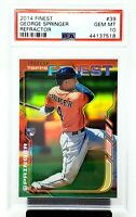 2014 Finest Refractor Astros GEORGE SPRINGER Rookie Card PSA 10 GEM MINT /199