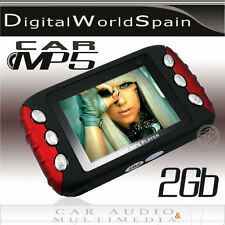 REPRODUCTOR MP5 2GB COLOR ROJO Y NEGRO TRANSMISOR FM COCHE MP3 MP4 USB SD