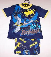 DC Comics Batman Boys Navy Blue Yellow Printed Pyjama Set Size 7 New