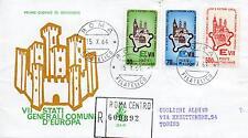Repubblica Italiana 1964 FDC Venetia Club Comuni d'Europa Racc. (E)