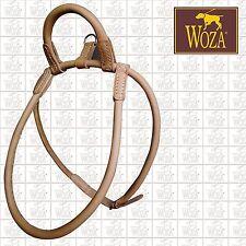 PREMIUM WOZA CHOW-CHOW HARNESS ROLLED GENUINE COW FULL LEATHER HANDMADE HCC1336