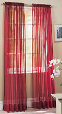 "Cream Voile Rod Pocket Curtain Drape 59x90"" 150x229cm"