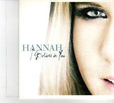(DW391) Hannah, I Believe In You - 2010 DJ CD