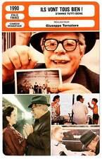 FICHE CINEMA : ILS VONT TOUS BIEN - Mastroianni,Morgan 1990 Everybody's Fine