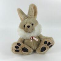 Vintage Bunny Rabbit Plush Stuffed Animal Art's Toy Mfg Big Feet Floppy Brown
