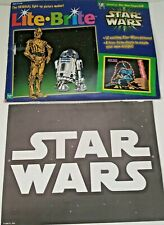 Lite Brite Star Wars Picture Refill Sheets Open Package 10 unpunched No Blanks