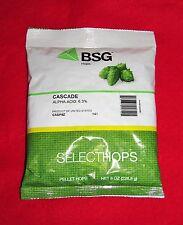 HOPS CASCADE  8oz PELLET HOPS BSG HOPS FACTORY PACKED FOR HOME BREWING BEER KIT