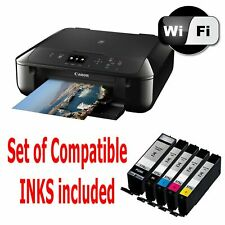 05 CANON Pixma MG5750 All in One WIRELESS PRINTER SCANNER COPIER with inks