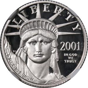2001-W Platinum American Eagle $10 NGC PF70 Ultra Cameo STOCK