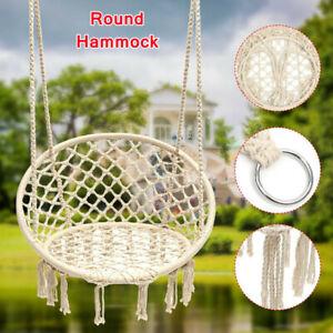 Portable Hammock Hanging Rope Chair Swing Seat Outdoor Garden Patio Camping UK