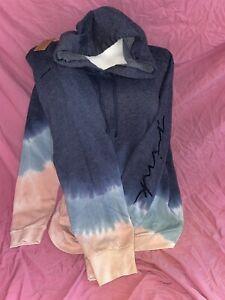New Victoria's Secret PINK Bright Loose Fit Hoodie Tie Dye Jogger Pant Set XL