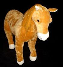 """MADAME ALEXANDER LARGE SOFT STUFED HORSE PLUSH 19"""" LARGE MINT"""