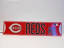 "Cincinnati Reds Vinyl Street Sign. 3-3/4"" x 16""   04"