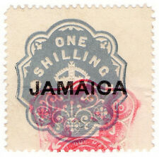 (I.B) Jamaica Revenue : Duty Stamp 1/- (die H)