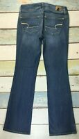 American Eagle SUPER STRETCH KICK BOOT WOMENS JEANS SIZE 4R (28X31) WHISKERED
