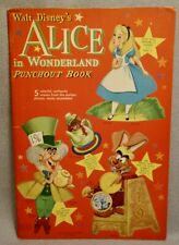 1951 DISNEY ALICE in WONDERLAND Punchout Book - WHITMAN - RARE UNUSED ORIGINAL
