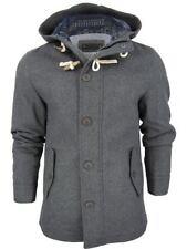 Cappotti e giacche da uomo stile parka grigio con cerniera