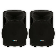 "Technical Pro PVOLT15 Active 15"" Speaker Pair 3000 Watts Powered DJ SPeakers"