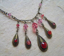CATENA KONPLOTT Teardrops Red Multi/Antique bronce