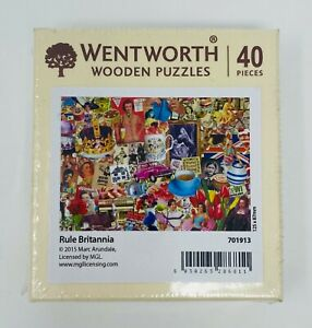 Wentworth Wooden Jigsaw Puzzle - Rule Britannia (40 Wooden Pieces)
