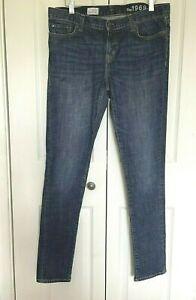 "GAP 1969 Always Skinny Blue Jeans Size 30/32 Actual measurements W34 L30.5"""