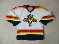 VINTAGE CCM Florida Panthers Hockey Jersey Youth Small White SEWN Kids Boys A19
