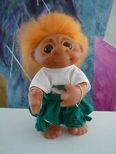 """VHTF Cheerleader Green/White Pom Pons Complete Outfit Norfin Dam 9"""" Troll NEW"""