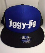 jiggy-jig Blue Black Snapback Mesh Trucker Hat Cap