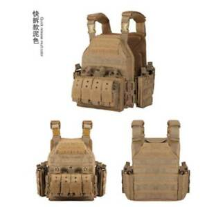 YAKEDA 1000D Nylon Plate Carrier Tactical Ves Outdoor Hunting Protective Adjust