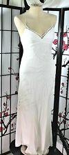 SILK BEADED  WHITE DESTINATION WEDDING  DRESS, 6 BCBG