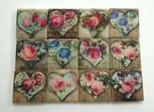Ceramic Mosaic Tiles - 12 Piece Mixed Set - Shabby Chic Hearts Designs Mosaic