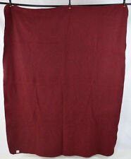 Vintage Brick Red Wool Felt COTTON GOODS CHICAGO Throw Blanket Bed Spread Cover