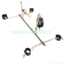 Steel Frame Hand Ankle Collar Cuffs Restraint Vibrable Plug Slave Bondage Rack