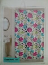 Park B. Smith Flower Burst Teal Shower Curtain Magic Makeover 70x72 New