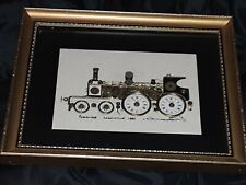 Vintage Ken Broadbent Collage Passenger Locomotive 1886