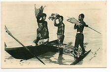 Carolines  Océan indien Indigenes canaques retour de  peche