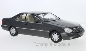 Mercedes 600 SEC (C140) anthrazit 1992 - 1:18 KK Scale