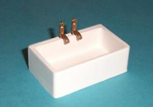 1/12 scale Dolls House,  White belfast sink  B1