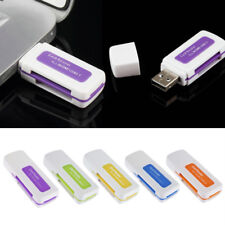 1X Protable 4in1 Memory Multi Card Reader USB2.0 for T-Flash/M2 Card liau