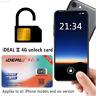 For iPhone XS XR X 8 7 6S 6 Plus LTE 4G GPP iDeal II Unlock Turbo Sim Card ~