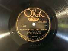 BLACK BROTHERS on OKEH 41553 PALS OF THE LITTLE RED SCHOOL /WHEN IT'S SPRINGTIME