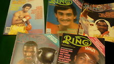 The Ring vintage boxing psort magazine 19855 issues #1