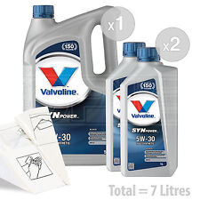 Car Engine Oil Service Kit / Pack 7 LITRES Valvoline SynPower C3 5W-30 7L
