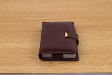 Vintage Bridge Playing Card Set Brown Leather Snap Case - Missing Pencil