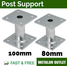 Heavy Duty Galvanised Bolt Down BASE Pergola POST SUPPORT Fence Foot Base