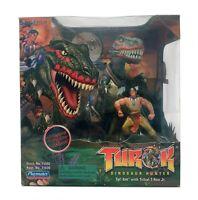 TUROK DINOSAUR HUNTER ACTION FIGURE: Tal'Set with Tribal T-Rex Jr. (1999) SEALED